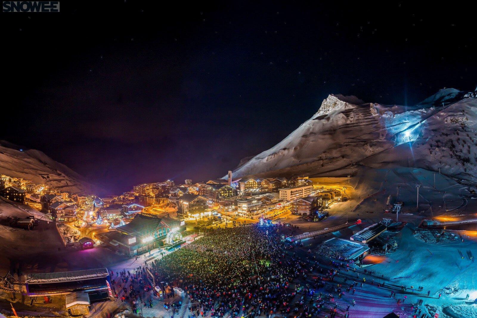 Tignes noc Alpy