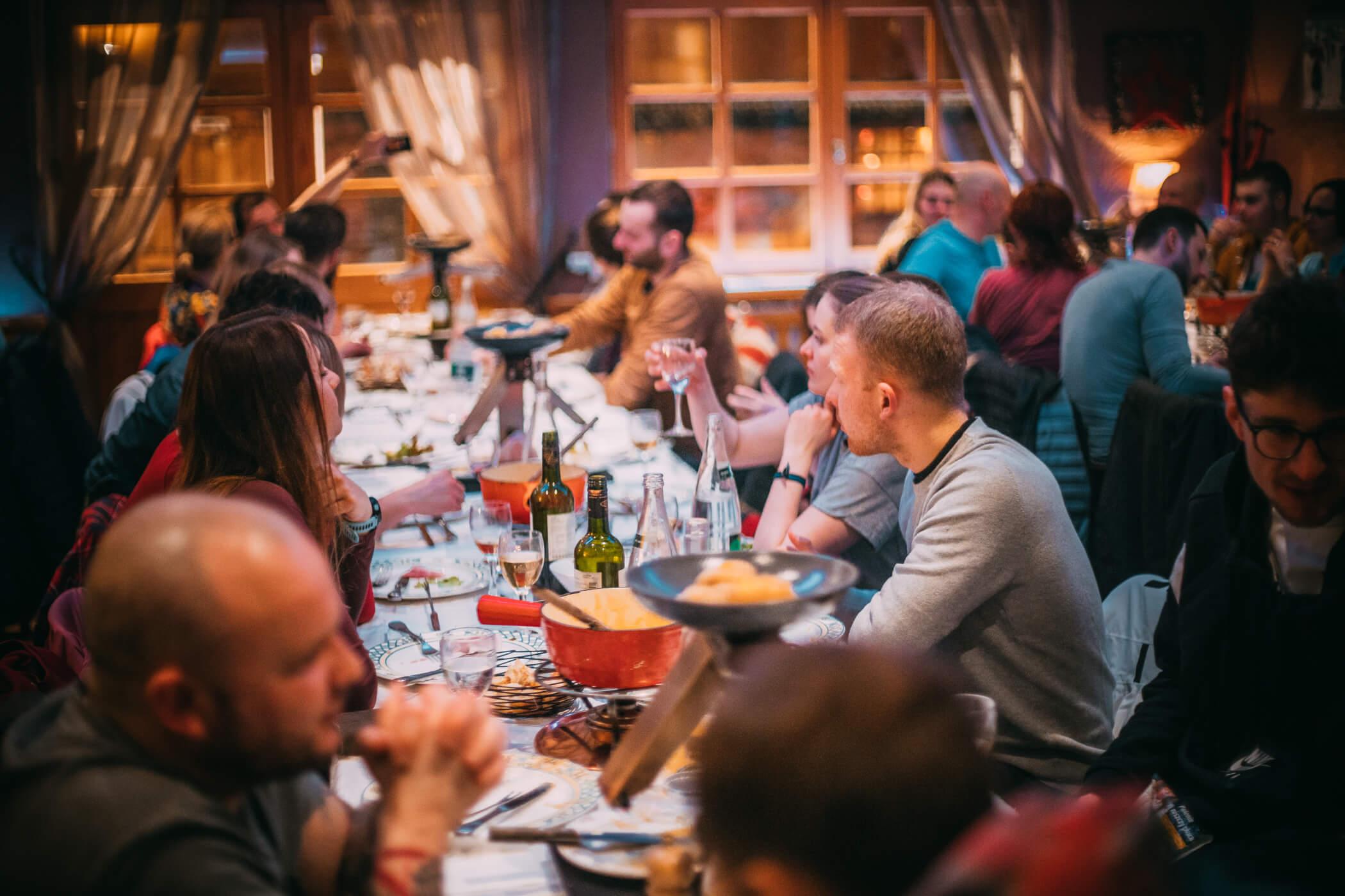 fondue raclette regional dinner