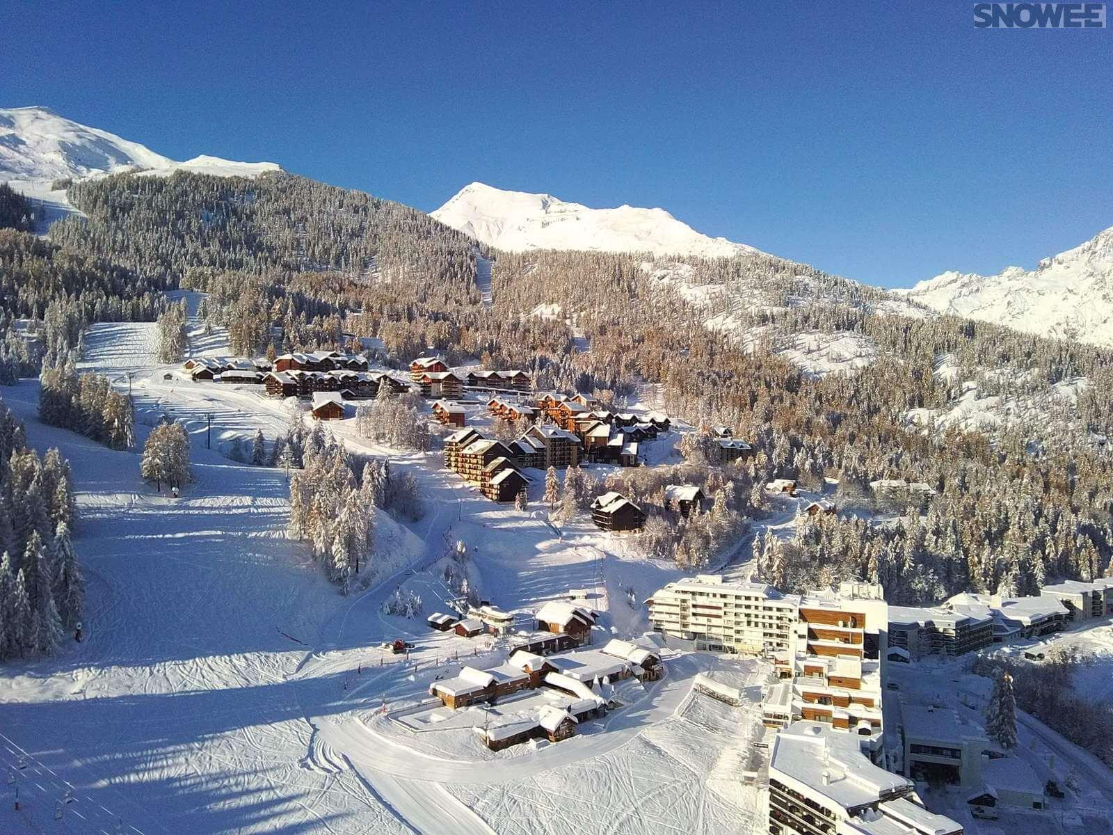 Puy Saint Vincent widok Alpy