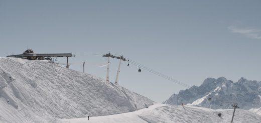 Switzerland Alps La Tzoumaz lift